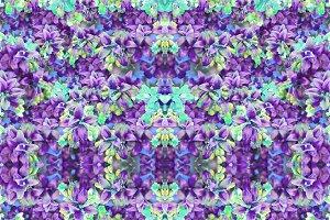 Stylized Floral Mosaic Pattern