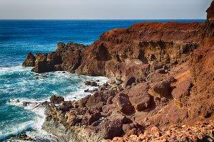 Rocky landscape of the island