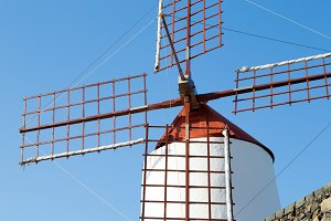 Windmill on the island of lanzarote