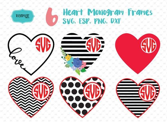 Valentine Monogram Frame svg ~ Illustrations ~ Creative Market