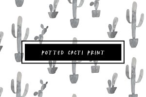 Potted Cacti Print