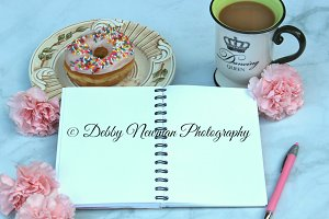 Coffee & donut-Blank Notebook