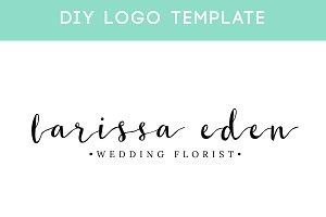 Elegant Signature Logo DIY Template