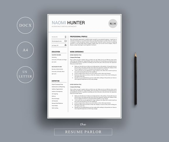 Resume 4 Page | A4 + US Letter Sizes