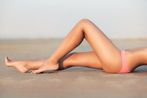 Woman's beautiful sexy legs