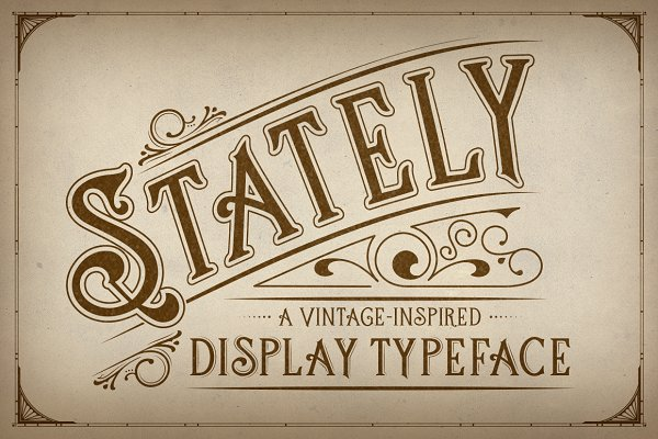 Stately Display Typeface