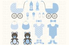 Baby Shower Boy Clipart