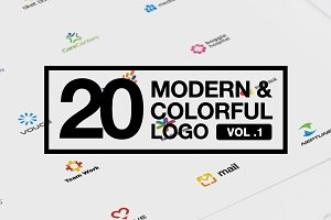 20 Modern & Colorful Logo Vol 1