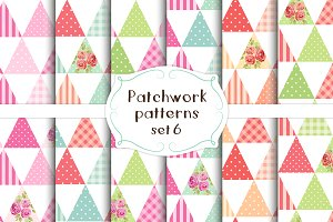 Patchwork seamless patterns set#6