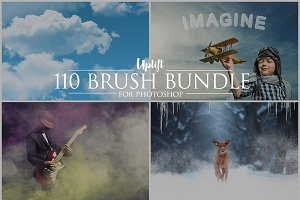 SALE! 110 Brush Bundle for Photoshop