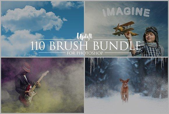 SALE 110 Brush Bundle For Photoshop