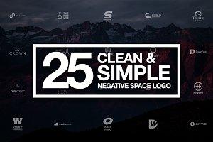 25 Negative Space Logo - Vol 2