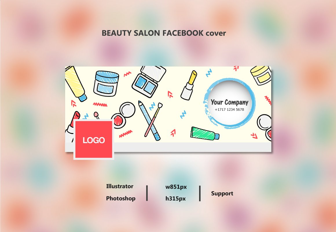Beauty salon facebook cover product mockups creative for Hair salon companies