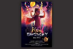 Kids Hero Party Flyer