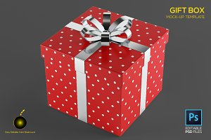 Gift Box Design Mock up Template