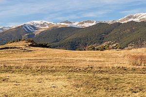 Pyrenees range seen from Campelles