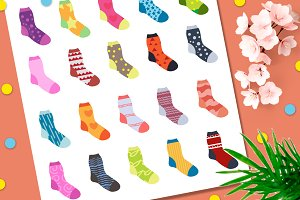 Socks collection of 120 items