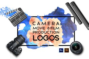 Camera,Movie & Film Production Logos