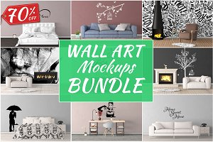Wall Art Mockups BUNDLE V22