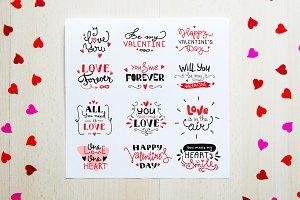 St. Valentine's Lettering Set