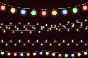 Festive christmas garland lights