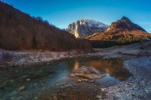 Ezcaurre peak over Zuriza Valley