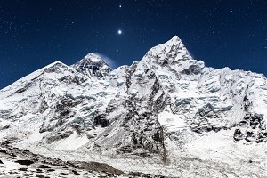 Mt. Everest at night