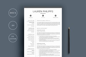 Resume 4 Page | A4 + US Letter