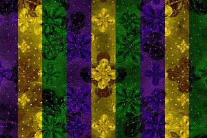 Mardi Gras Ornate Pattern