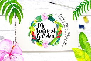 My Tropical Garden Watercolor Set