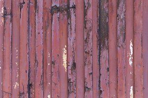Aged metal wall with horizontal lines