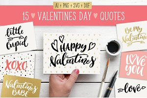 Valentines Day quotes SVG bundle