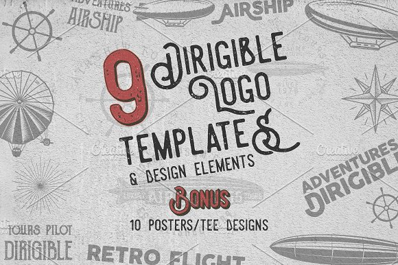 Airship Badges & Design Elements