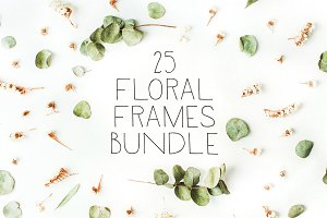 SALE. 25 floral frames bundle #3