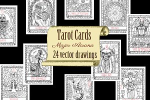 Vector Tarot Cards. Major Arcana
