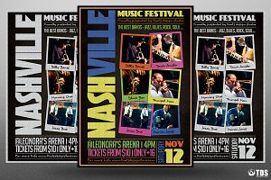 Music Festival Flyer Template V12