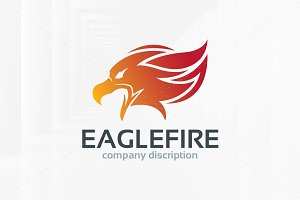 Eagle Fire Logo Template