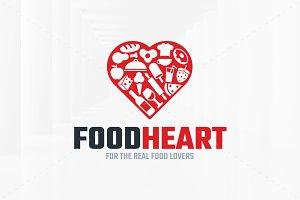 Food Heart Logo Template