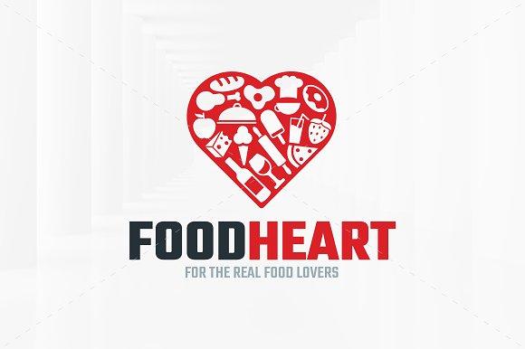 Food Heart Logo Template Templates Creative Market
