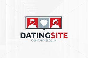 Dating Site Logo Template
