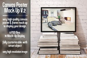 Canvas Poster Mock Up V2