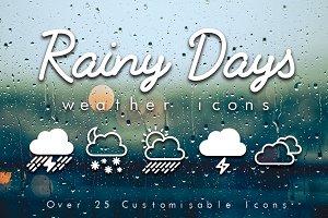 Rainy Days - Over 25 Weather Icons