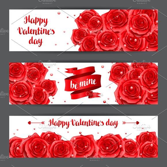 Happy Valentine Day Banners