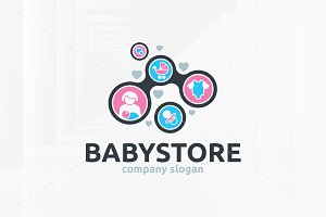 Baby Store Logo Template