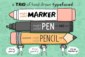 Might Could Drawing Tools Font Trio