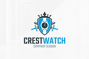 Crest Watch Logo Template