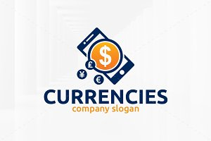 Currencies Logo Template
