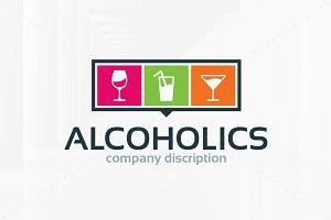 Alcoholics Logo Template