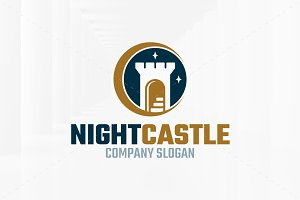 Night Castle Logo Template