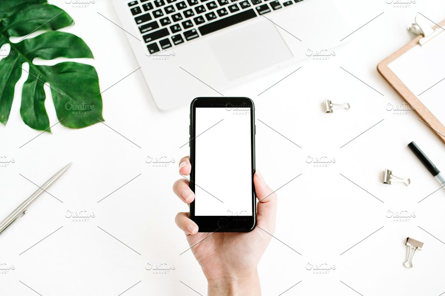 iPhone 7 with blank screen ~ Business Photos ~ Creative Market